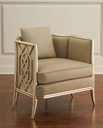 John-Richard Collection Fretwork Lounge Chair