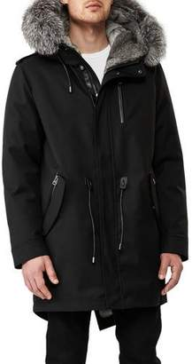 Mackage Mortiz-X Parka w/Fox & Rabbit Fur Trim, Black