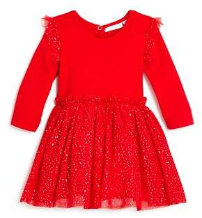 Elegant Baby Girls' Glitter-Dot Tutu Bodysuit Dress - Baby