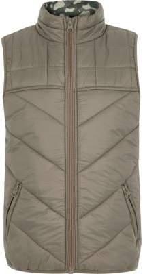 Boys khaki puffer vest