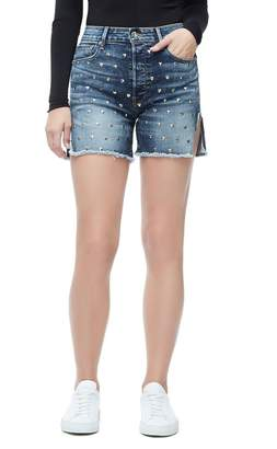 Good American The Bombshell Jean Short With Love - Blue139