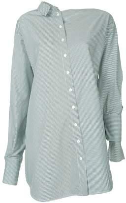 CHRISTOPHER ESBER asymmetric striped shirt