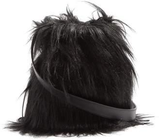 Simone Rocha Faux Fur And Leather Bag - Womens - Black