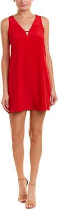 Lavender Brown Pocket Silk Shift Dress