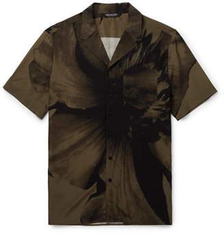 Neil Barrett Camp-Collar Printed Voile Shirt