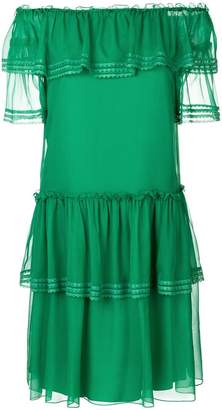 Alberta Ferretti ruffled off-shoulder dress