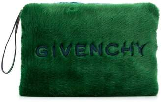 Givenchy large faux-fur clutch