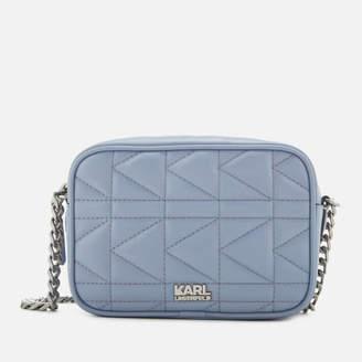 Karl Lagerfeld Women's K/Kuilted Cross Body Bag - Mistic Blue