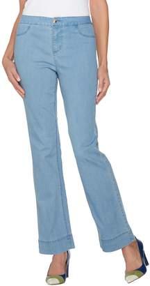 C. Wonder Petite Denim Boot Cut Fly Front Jeans