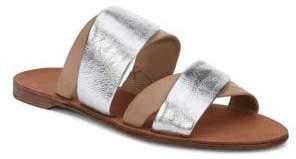 Diane von Furstenberg Blake Cappuccino Multi Band Sandals