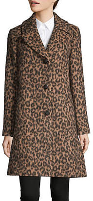 Kate Spade Printed Notch Collar Coat