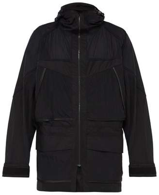 Cottweiler Journey Hooded Technical Cotton Blend Jacket - Mens - Black