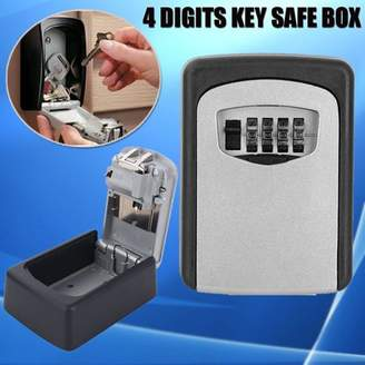 Estink Wall Mount Combination Key Safe Lock Box Key Security Storage Case with 4 Digits for Outdoor Indoor(#4)