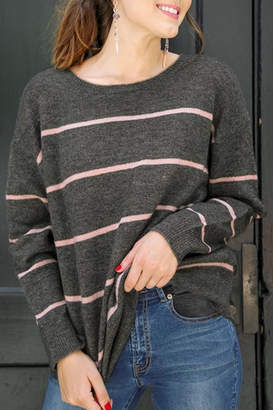 Umgee USA Styling In Stripes sweater