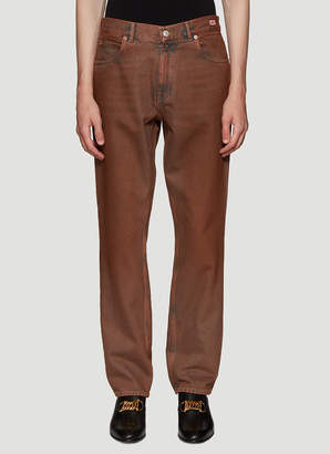 Martine Rose Straight Leg Jeans in Brown