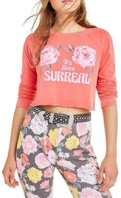 Wildfox Couture It's Been Surreal Beach House Crop | Pigment Scarlet