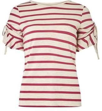 Dorothy Perkins Womens Beige drawcord T-Shirt