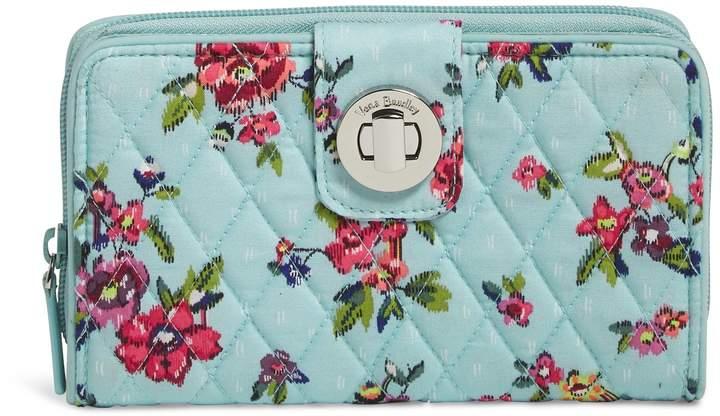 Vera Bradley RFID Turnlock Wallet - PAISLEY STRIPES - STYLE
