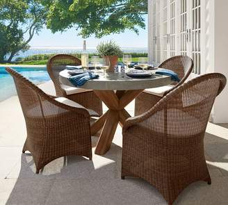 Pottery Barn Palmetto All-Weather Wicker Dining Chair, Honey