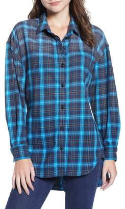 Pam & Gela Back Tie Plaid Shirt