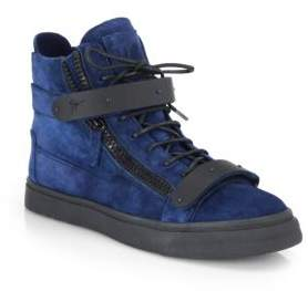 Matte Double-Bar High-Top Sneakers $995 thestylecure.com