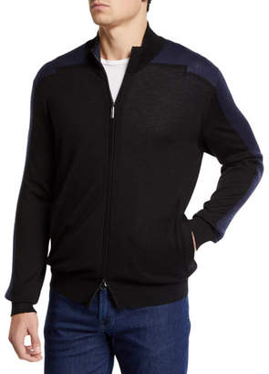 Stefano Ricci Men's Mock-Neck Full Zip Long-Sleeve Sweater
