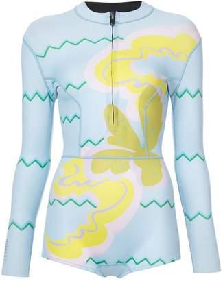 Cynthia Rowley Byron printed wetsuit