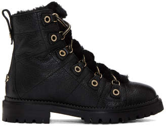 Jimmy Choo Black HIllary Flat Ankle Boots