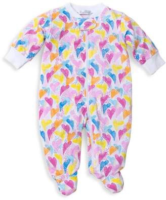 Kissy Kissy Baby Girl's Rainbow Hearts Footed Onesie