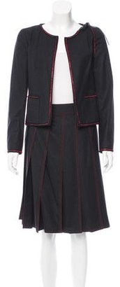 Chanel Wool Embellished Skirt Suit w/ Tags $945 thestylecure.com