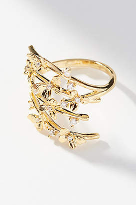 Anthropologie Butterfly Wrap Ring