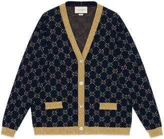 Gucci GG cotton lamé cardigan