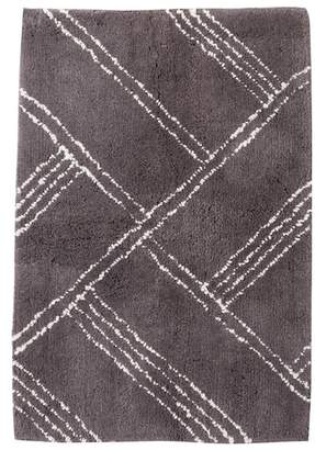 Nordstrom Rack Distressed Stripe Bath Mat - Grey Asphalt