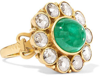 Amrapali 18-karat Gold, Diamond And Emerald Ring