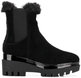 DKNY fur trim ankle boots