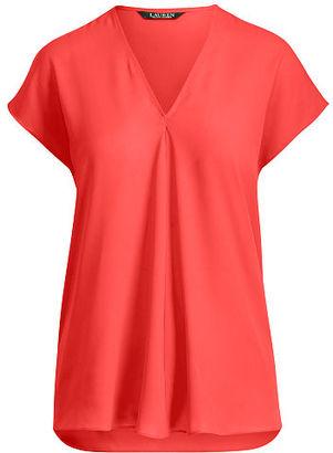 Ralph Lauren Lauren Georgette Short-Sleeve Top $69.50 thestylecure.com