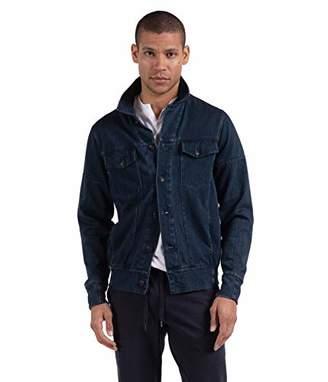 Good Man Brand Men's Twill Knit Jean Jacket