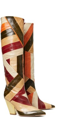 Lila Multi-Color Knee Boot