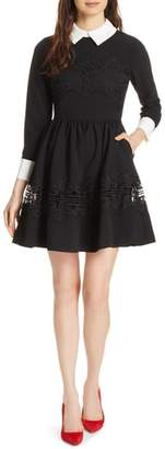Ted Baker Haeden Collared Lace Panel Dress