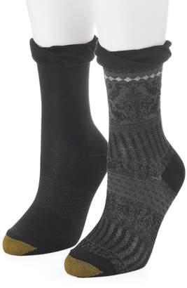 Gold Toe Goldtoe Women's GOLDTOE 2-pk. Microfiber Scrollwork Slouchy Cuff Crew Socks