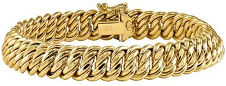 "14K Gold Bold Link 7-1/2"" Bracelet, 10.8g"