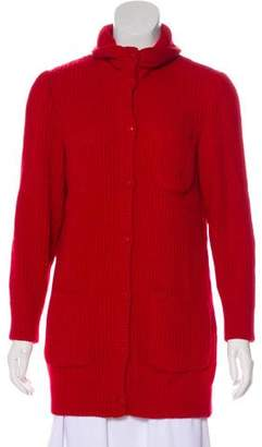 RED Valentino Heavy-weight Mock Collar Cardigan