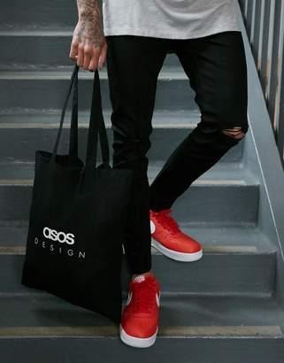 78fa3753d Asos Design DESIGN organic cotton tote bag in black with text print