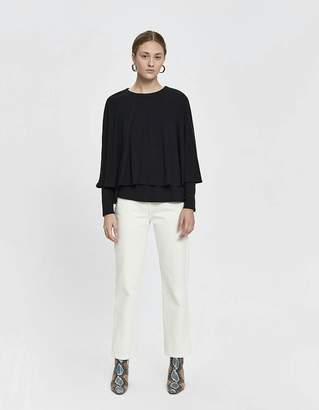 Which We Want Nancy Long Sleeve Cape Top