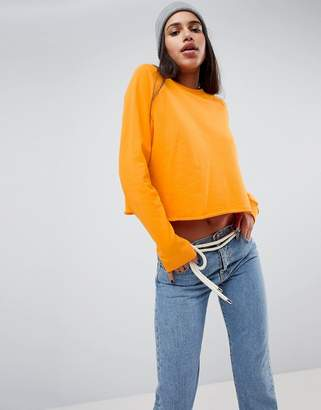 Asos DESIGN Swing Sweatshirt with Raw Hem