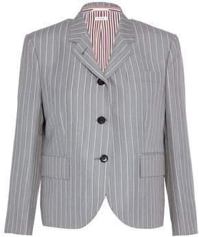 Thom Browne Striped Wool And Mohair-Blend Blazer