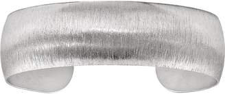ING Italian Silver Brushed-Finish Cuff Bangle Sterling, 16.1g