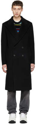 Wooyoungmi Black Double Breasted Long Coat