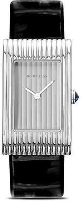 Boucheron medium Reflet leather strap watch