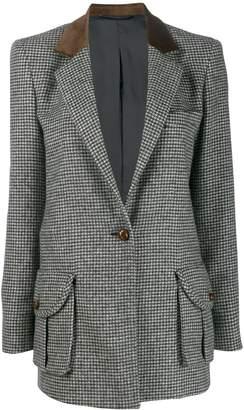 BLAZÉ MILANO houndstooth print blazer